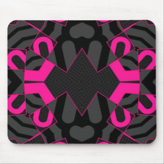 Florescent Pink Abstract Mouse Pads