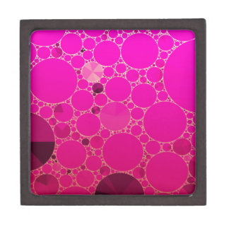 Florescent Pink Abstract Patterns Jewelry Box