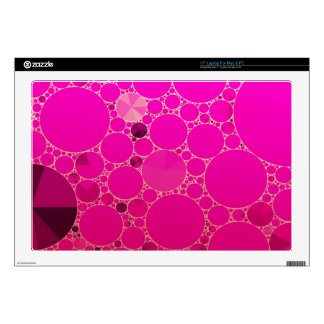 Florescent Pink Abstract Patterns Skin For Laptop