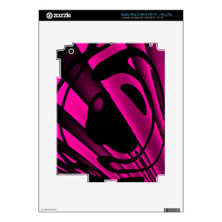 Florescent Pink Black Abstract iPad 3 Skins
