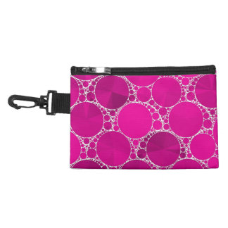 Florescent Pink Bling Accessory Bag