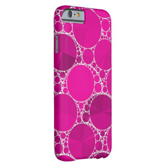 Florescent Pink Bling Barely There iPhone 6 Case