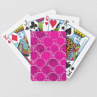 Florescent Pink Bling Bicycle Playing Cards