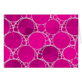Florescent Pink Bling Card