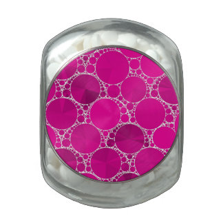 Florescent Pink Bling Jelly Belly Candy Jar