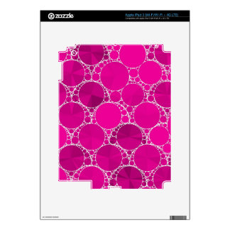 Florescent Pink Bling Skins For iPad 3