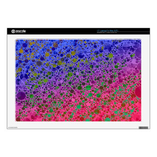 Florescent Pink Blue Abstract Laptop Skins