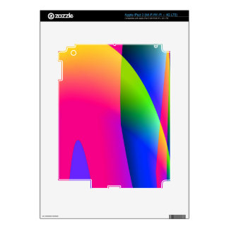Florescent Pink Blue Abstract Pattern Skins For iPad 3