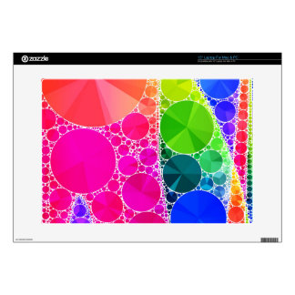 "Florescent Pink Blue Bling Abstract 15"" Laptop Skins"
