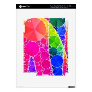 Florescent Pink Blue Bling Abstract Decal For iPad 3
