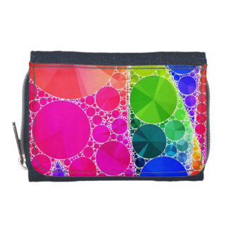 Florescent Pink Blue Bling Abstract Wallets