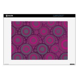 Florescent Pink Bluish Circle Abstract Decals For Laptops