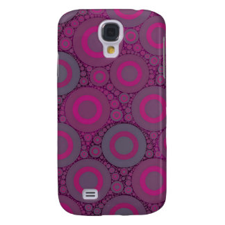 Florescent Pink Bluish Circle Abstract Samsung Galaxy S4 Case