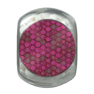 Florescent Pink Bubble Pattern Jelly Belly Candy Jar