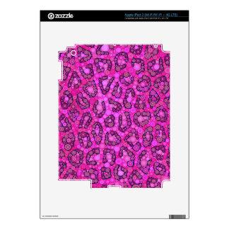 Florescent Pink Cheetah Pattern iPad 3 Skin