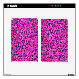 Florescent Pink Cheetah Pattern Kindle Fire Decal