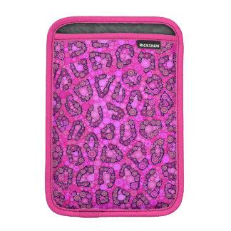 Florescent Pink Cheetah Pattern Sleeve For iPad Mini