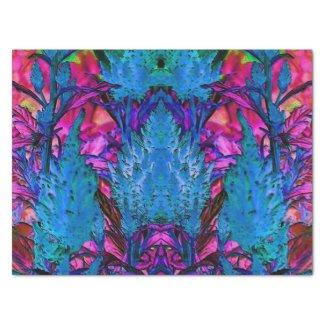 """Florescent Pink Floral Surge 15"""" X 20"""" Tissue Paper"""