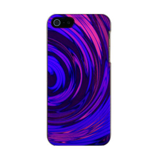 Florescent Pink Floral Surge Metallic Phone Case For iPhone SE/5/5s