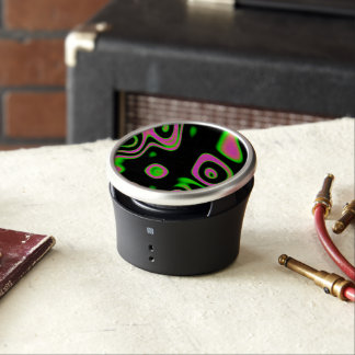 Florescent Pink Green Abstract Bluetooth Speaker