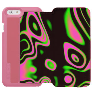 Florescent Pink Green Abstract iPhone 6/6s Wallet Case