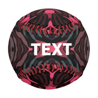 Florescent Pink Grey Zebra Baseball
