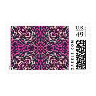Florescent Pink Leopard Postage