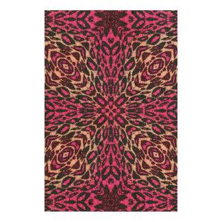 Florescent Pink Leopard Cork Paper