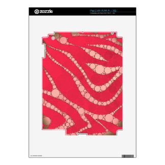 Florescent Pink Tan Zebra Decals For The iPad 2