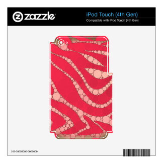 Florescent Pink Tan Zebra iPod Touch 4G Skins