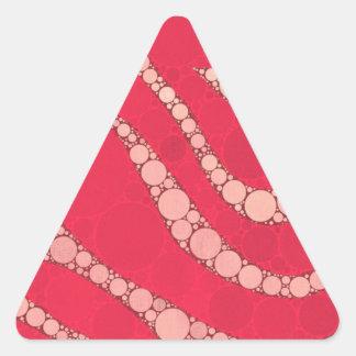 Florescent Pink Tan Zebra Triangle Sticker