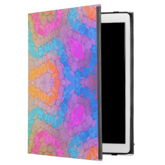 Florescent Pink Turquoise Abstract iPad Pro Case