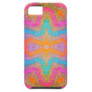 Florescent Pink Turquoise Abstract iPhone SE/5/5s Case