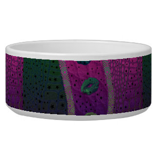 Florescent Pink Turquoise Lips Stars Bowl