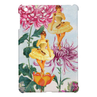 Florescent Pink Vintage Ballerina Collage Case For The iPad Mini
