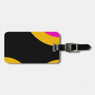 Florescent Pink Yellow Retro Pattern Bag Tag
