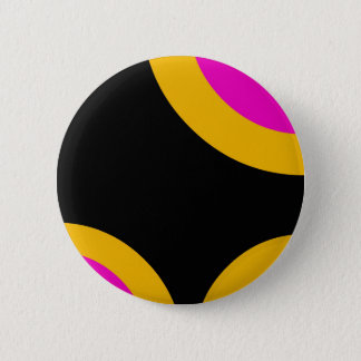 Florescent Pink Yellow Retro Pattern Button
