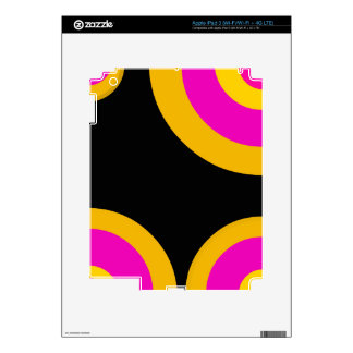 Florescent Pink Yellow Retro Pattern iPad 3 Decals