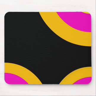 Florescent Pink Yellow Retro Pattern Mouse Pad