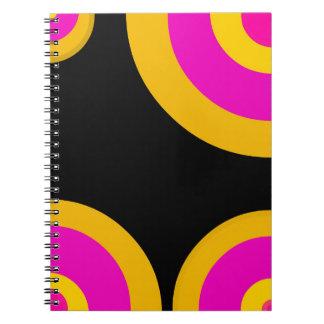 Florescent Pink Yellow Retro Pattern Notebook