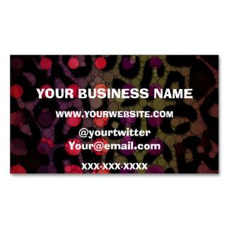 Florescent Polka-dot Cheetah Business Card Magnet