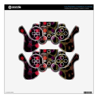Florescent Polka-dot Cheetah Decal For PS3 Controller