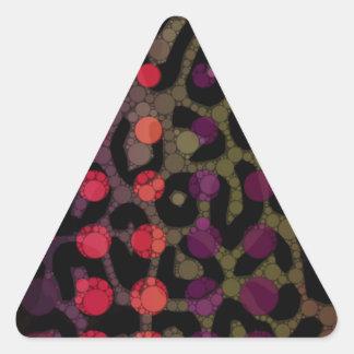 Florescent Polka-dot Cheetah Triangle Sticker