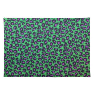 Florescent Printed Bling Animal Print Cloth Place Mat