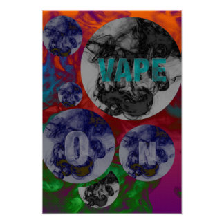 Florescent Psychedelic Vape Clouds Poster