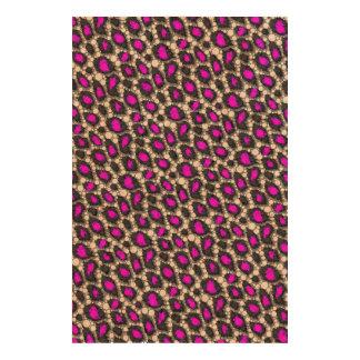 Florescent Purple Cheetah Cork Fabric
