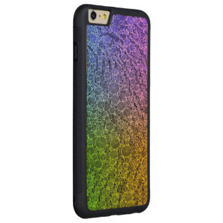 Florescent Rainbow Cheetah Carved® Maple iPhone 6 Plus Bumper