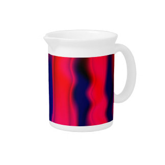 Florescent Red Blue Abstract Beverage Pitchers