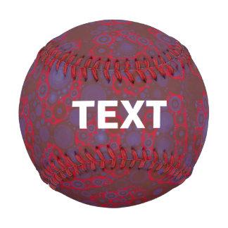 Florescent Red Blue Cheetah Baseball