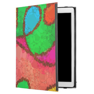 """Florescent Red Turquoise Yellow Abstract iPad Pro 12.9"""" Case"""